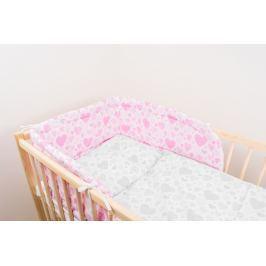 ANTONY FASHION - Mantinel (růžový) - Srdíčka, velikost: 175 cm x 30 cm