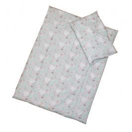 ANTONY FASHION - Povlečení (šedé) - Srdíčka, velikost: 120x90 (přikrývka) + 40x60 (polštář) Vše do domácnosti