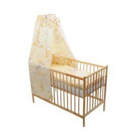 ANTONY FASHION - Čtyřdílná souprava - povlečení + mantinel + baldachýn (smetanová) - Medvídek na žebříku, velikost: 120x90 (přikrývka) + 40x60 (polštář)