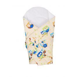 ANTONY FASHION - Zavinovačka s výztuží (smetanová) - Sovy - malé, velikost: 70x70 (cm) Produkty