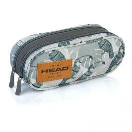 ASTRA - Pouzdro XL 2 zipy Head HD-49 Tukan šedý