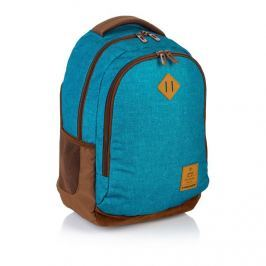 ASTRA - Studentský batoh Head HD-56 modrohnědý Vše do domácnosti
