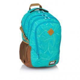 ASTRA - Studentský batoh Head HD-92 tyrkysový s listy Vše do domácnosti