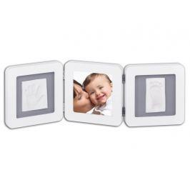 BABY ART - Rámeček Double Print Frame White & Grey Vše do domácnosti