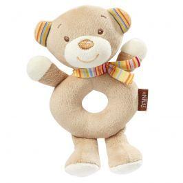 BABY FEHN - Rainbow měkký kroužek medvídek