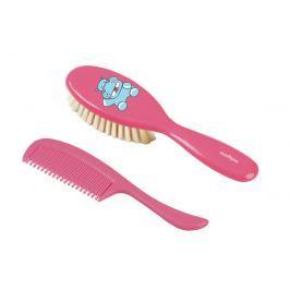 BABYONO - Kartáček a hřeben na vlasy super jemná - růžová Produkty