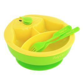 BabyOno - Miska trojdílná s příborem - zelená Produkty