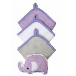 BABYONO - Souprava 3 mycích utěrek s houbičkou - fialová Produkty
