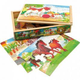 Bino - 88015 Puzzle Zvířátka v krabičce 4 druhy
