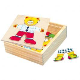 Bino - 88047 Puzzle Šatní skříň - medvídek