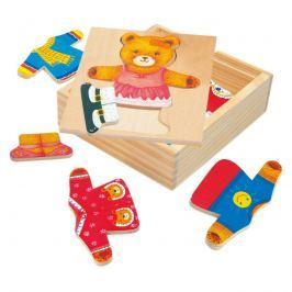 Bino - 88048 Puzzle Šatní skříň - medvědice