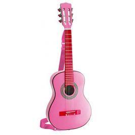 BONTEMPI - Klasická dřevěná kytara 75 cm v dívčí růžové barvě GSW 7571 / SL