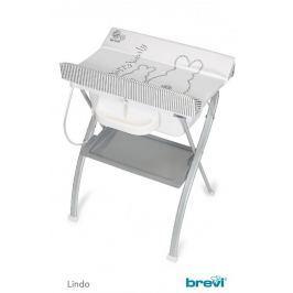 BREVI - LINDO Set na koupání a přebalování, 2017, 501, Šedá-Zajíček
