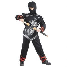CASALLIA - Karnevalový kostým Ninja s maskou stříbrný M