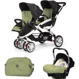 CASUALPLAY - Set kočárek pro dvojčata Stwinner, 2 x autosedačka Baby 0plus a Bag 2017 - GRAPE