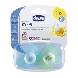 CHICCO - Šidítko Physio Micro, silikonové, 0-2M +, modrá, 2ks