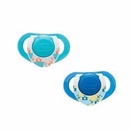 Chicco - Kaučukový dudlík Physio 12+, modrý, 2ks