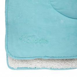 CUDDLEME - Super měkká oboustranná dětská deka 140 x100 cm, Tiffany Blue