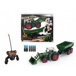 DICKIE - Rc Traktor S Lžící A Vozíkem 60 Cm