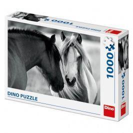 DINO - Puzzle Černobílé koně 1000D