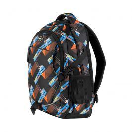 EASY - Batoh školní-sportovní - oranžovo modrý -černý zipy