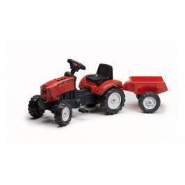 FALK - Šlapací traktor 2030 Lander s vlečkou Z160X s otevírací kapotou