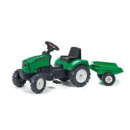 FALK - Šlapací traktor 2031 Lander s vlečkou Z160X s otevírací kapotou zelený
