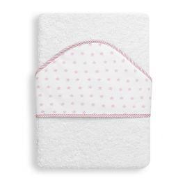 INTERBABY - OSUŠKA froté 100x100 HVĚZDA - bílo-růžová