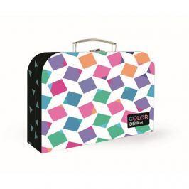 KARTON PP - Kufřík 34 cm Junior Premium - Cubes
