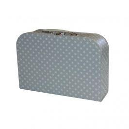KAZETO - Kufřík 30cm Hvězdičky - šedý