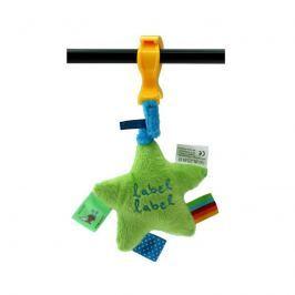 LABEL-LABEL - Plyšová hvězda se skřipcem, zelená