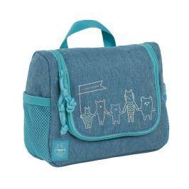 LÄSSIG - Dětská taštička na hygienu Mini Washbag About Friends mélange blue