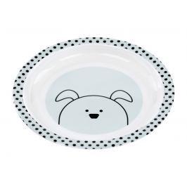 LÄSSIG - Dětský talíř Plate with Silicone Little Chums dog