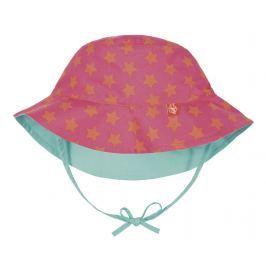 LÄSSIG - Klobouček Sun Protection Bucket Hat - peach stars 6-18 měsíců