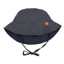 LÄSSIG - Klobouček Sun Protection Bucket Hat - polka dots navy 18-36 měsíců