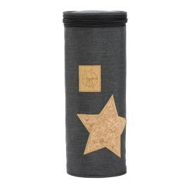 LÄSSIG - Obal na láhev Casual Bottle Holder Single - Cork Star dark grey