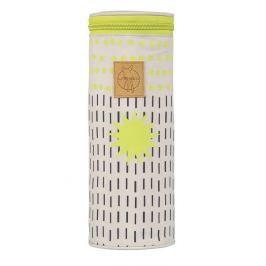 LÄSSIG - Obal na láhev Casual Bottle Holder Single - Dots Strokes lime