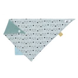 LÄSSIG - Bryndák Interlock Bandana with silicone teether Little Chums dog