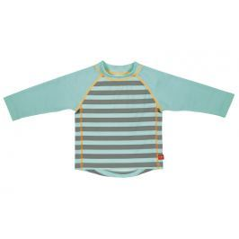 LÄSSIG - Tričko Rashguard Long Sleeve Boys 2016 - striped aqua XL