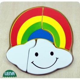 LENA - Dřevěné puzzle Duha 32133
