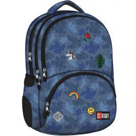 MAJEWSKI - Studentský batoh St. Right Jeans & Badges BP07