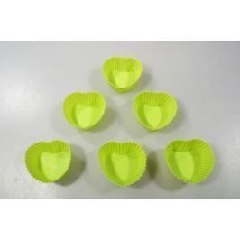 MAKRO - Forma na pečení srdce, silikon, 6ks