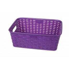 MAKRO - Plastový košík s imitací ratanu