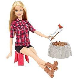 MATTEL - Barbie Při táboráku blond FDB44