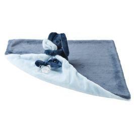 NATTOU - Deka plyšová s mazlíčkem LAPIDOU  light blue 48cm x 48cm