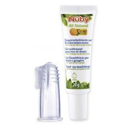 NUBY - Zubní gel pro děti All Natural 20g + kartáček na prst 4m+