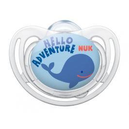 NUK - Dudlík FREESTYLE Silikonový, V1 (0-6m. ), velryba