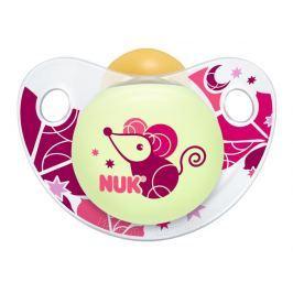 NUK - Dudlík Trendline DEN & NOC, LA, V2 (6-18m. ), fialová myš