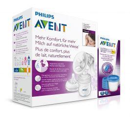 PHILIPS AVENT - Avent - Odsávačka mateřského mléka Natural se zásobníkem 125ml + VIA180ml 5ks