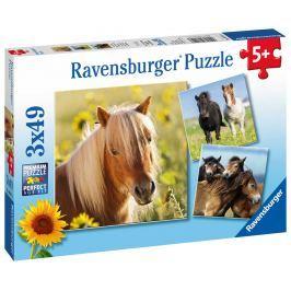 RAVENSBURGER - Koně 3X49 Dílků